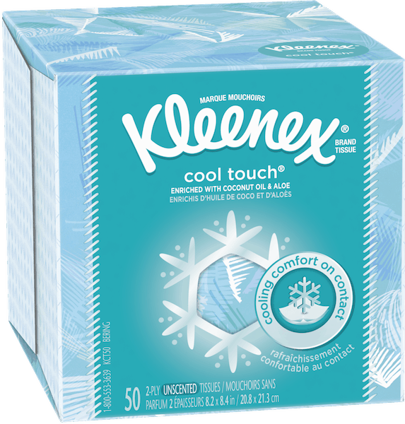 $1.00 for Kleenex® Cool Touch Facial Tissue (expiring on Friday, 03/30/2018). Offer available at multiple stores.