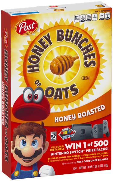 $0.30 for Honey Bunches of Oats® (expiring on Saturday, 06/02/2018). Offer available at multiple stores.