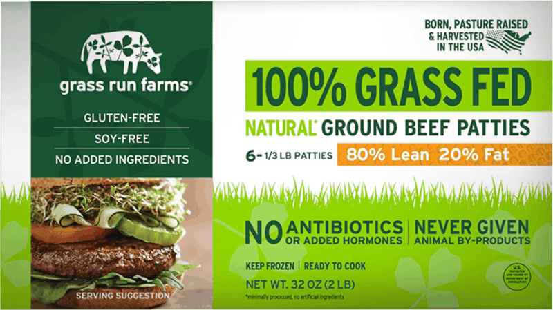 $0.75 for Grass Run Farms Frozen Ground Beef Patties (expiring on Friday, 09/04/2020). Offer available at H-E-B, Sprouts Farmers Market.