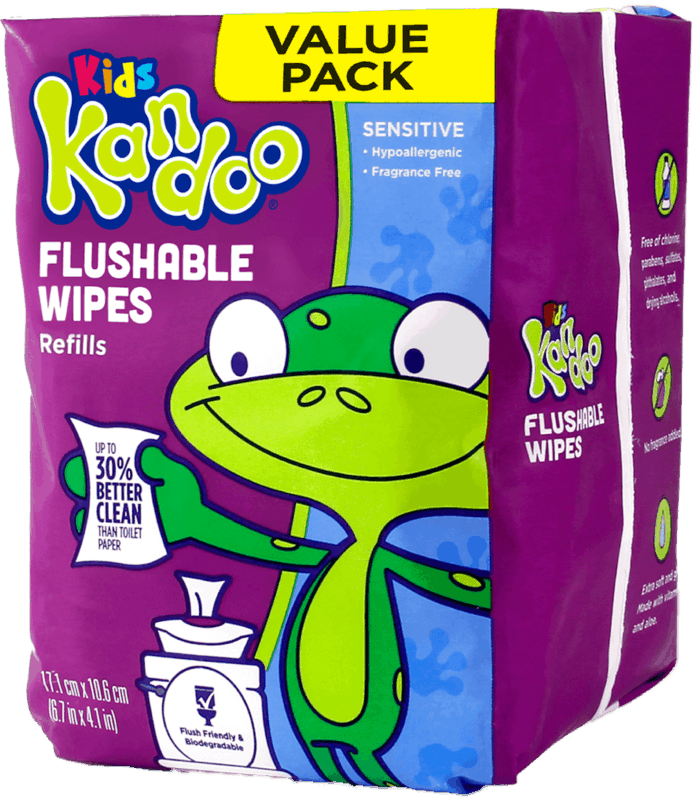 $0.50 for Kandoo Flushable Wipes (expiring on Monday, 09/02/2019). Offer available at multiple stores.