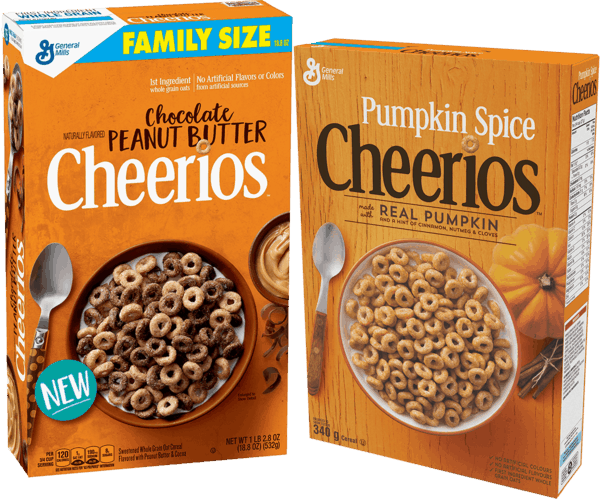 $4.00 for Chocolate Peanut Butter and Pumpkin Spice Cheerios™ (expiring on Saturday, 06/02/2018). Offer available at Walmart.