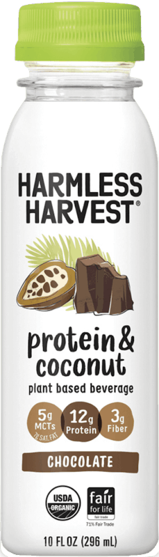 $1.50 for Harmless Harvest® Protein & Coconut Plant Based Beverage (expiring on Saturday, 05/09/2020). Offer available at Publix, H-E-B, Whole Foods Market®.