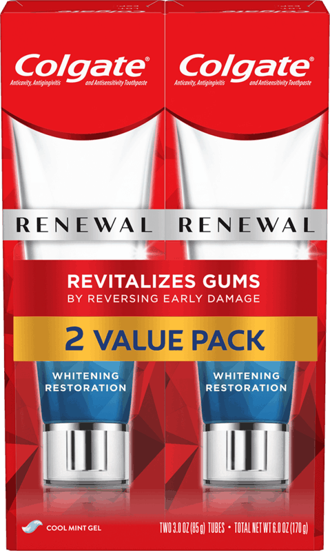 $3.00 for Colgate® Gum Renewal Toothpaste Twin Pack (expiring on Friday, 07/30/2021). Offer available at Kroger.