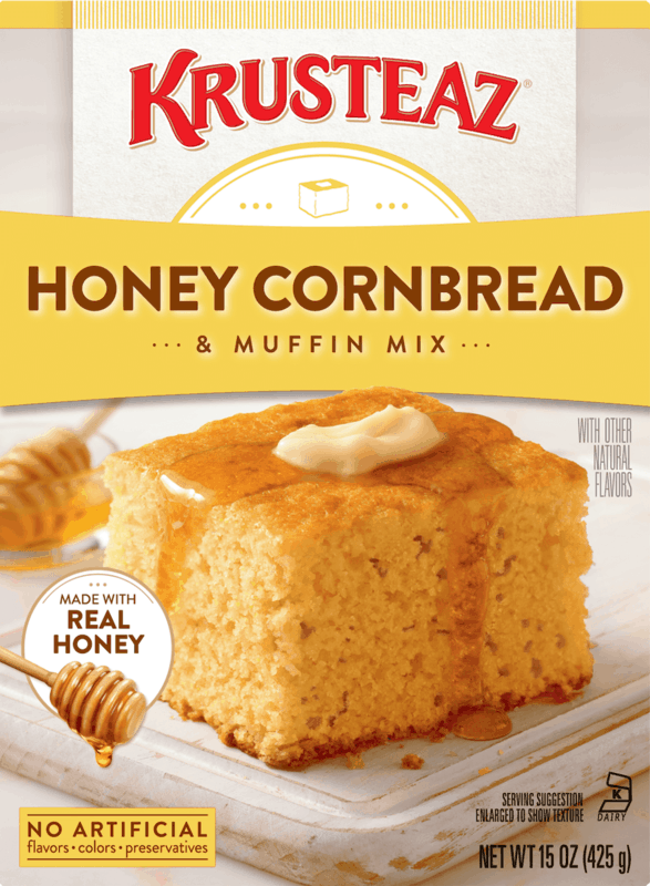 $0.75 for Krusteaz® Cornbread Mixes (expiring on Friday, 11/15/2019). Offer available at multiple stores.