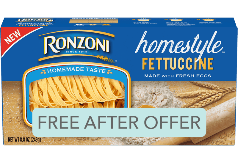 $1.99 for Ronzoni® Homestyle™ (expiring on Thursday, 01/02/2020). Offer available at multiple stores.