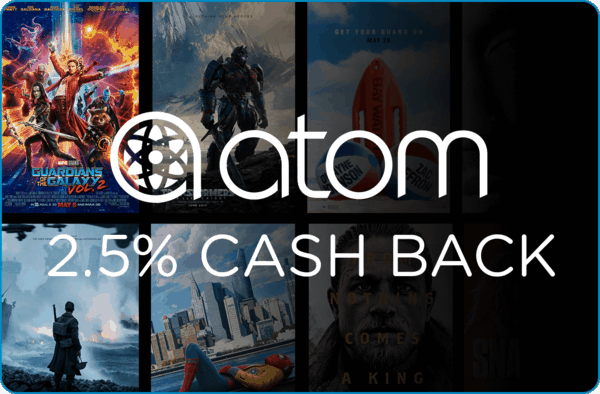 $0.00 for Atom Tickets (expiring on Tuesday, 05/01/2018). Offer available at Atom Tickets.
