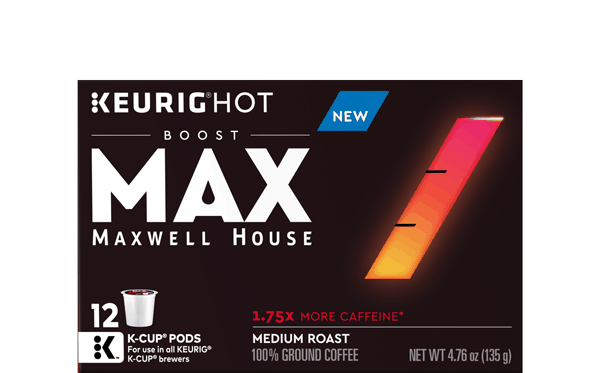 $1.50 for MAX Boost Maxwell House K-Cup® Pods. Offer available at Walmart.