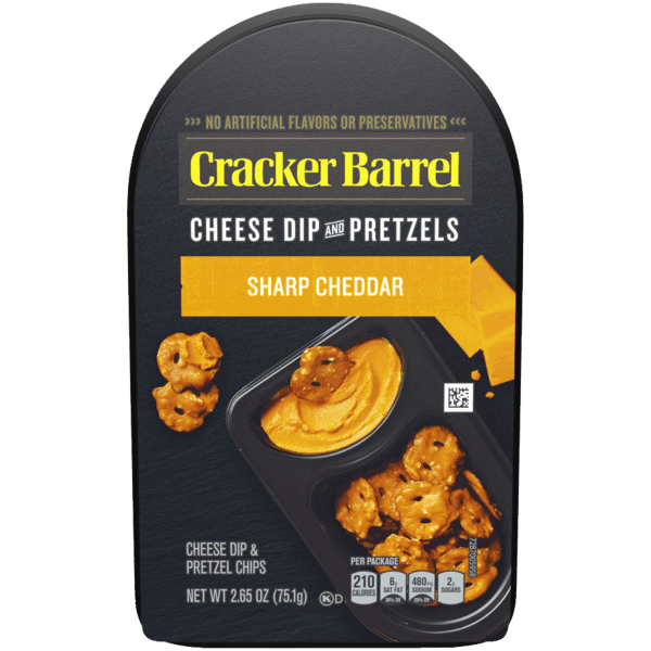 $0.50 for Cracker Barrel™ Cheese Dip and Pretzels (expiring on Wednesday, 02/06/2019). Offer available at Walmart.