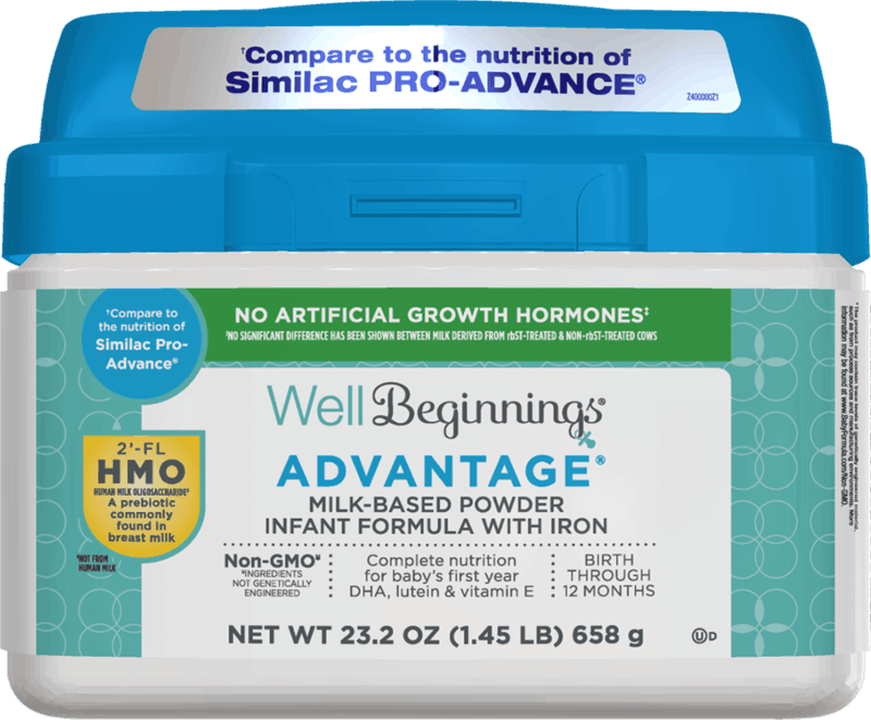 $4.00 for Well Beginnings Advantage Formula (expiring on Thursday, 07/02/2020). Offer available at Walgreens.