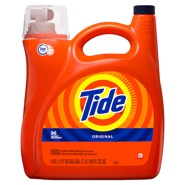 $5.00 for Tide® Laundry Detergent. Offer available at multiple stores.