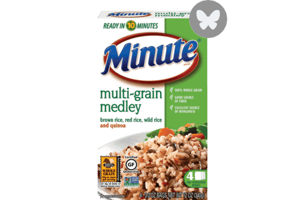 $1.00 for Minute® Rice Multi-Grain Medley. Offer available at Walmart.