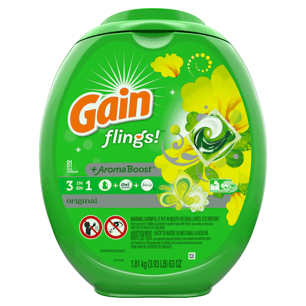$1.25 for Gain® Liquid or Flings Detergent. Offer available at Walmart.