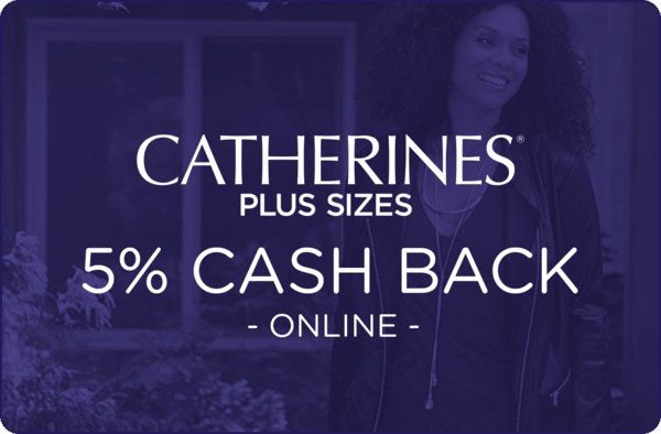 $0.00 for Catherines (expiring on Wednesday, 04/01/2020). Offer available at Catherines.com.
