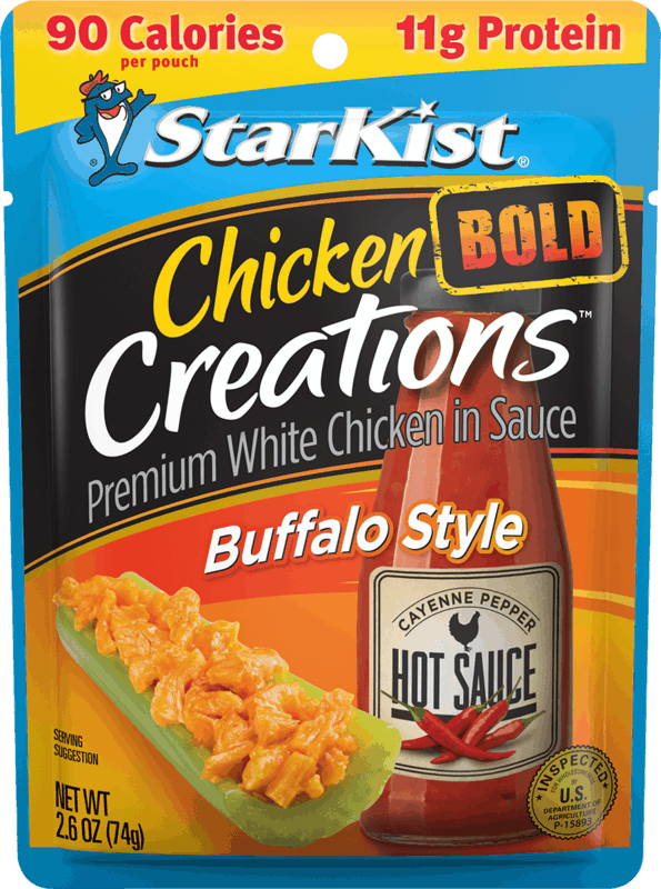 $0.50 for StarKist® Chicken Creations™ Pouches (expiring on Sunday, 08/11/2019). Offer available at multiple stores.
