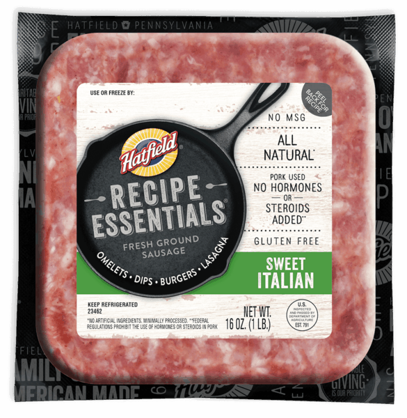 $1.00 for Hatfield® Recipe Essentials (expiring on Monday, 09/02/2019). Offer available at multiple stores.