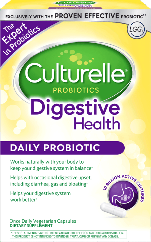 $6.00 for Culturelle® Adult Probiotics (expiring on Thursday, 01/02/2020). Offer available at multiple stores.