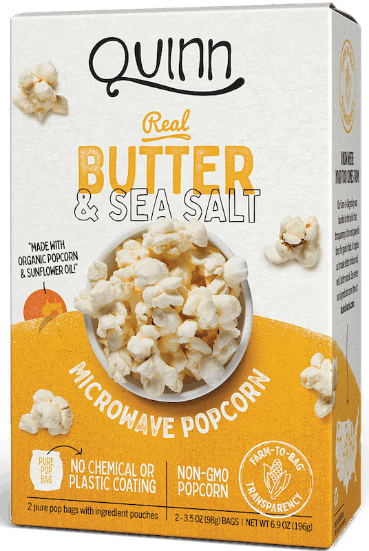 $1.00 for Quinn Popcorn (expiring on Friday, 10/02/2020). Offer available at multiple stores.