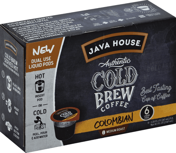 $2.00 for JAVA HOUSE® Authentic Cold Brew Coffee Pods (expiring on Saturday, 03/02/2019). Offer available at Safeway, Target, Walmart, Albertsons.