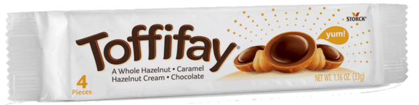 $0.50 for Toffifay® (expiring on Friday, 11/09/2018). Offer available at H-E-B.
