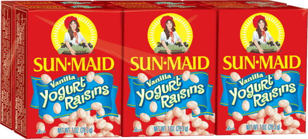 $0.50 for Sun-Maid Yogurt Flavored Raisins (expiring on Tuesday, 04/14/2020). Offer available at multiple stores.
