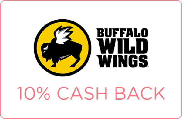 $0.00 for 10% cash back at Buffalo Wild Wings (expiring on Monday, 01/01/2018). Offer available at Buffalo Wild Wings.