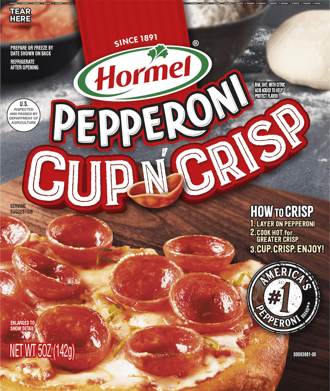 $1.00 for HORMEL® Pepperoni Cup N' Crisp (expiring on Saturday, 07/11/2020). Offer available at Walmart, Walmart Grocery.