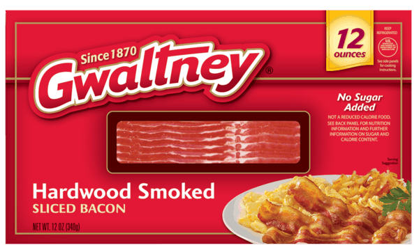 $1.00 for Gwaltney® Bacon. Offer available at multiple stores.