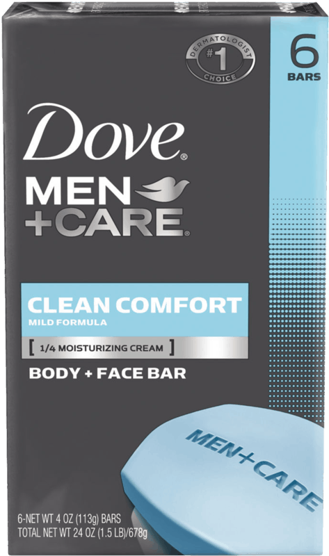$1.50 for Dove Men+Care Body + Face Bar. Offer available at Target, Walmart, CVS Pharmacy.