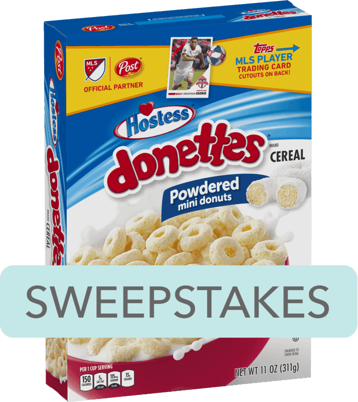 $0.25 for Post® Hostess™ Donettes™ Cereal (expiring on Saturday, 02/08/2020). Offer available at Walmart.