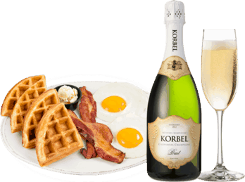 $5.00 for KORBEL® & Any Entrée or Appetizer. Offer available at Any Restaurant, Any Bar.