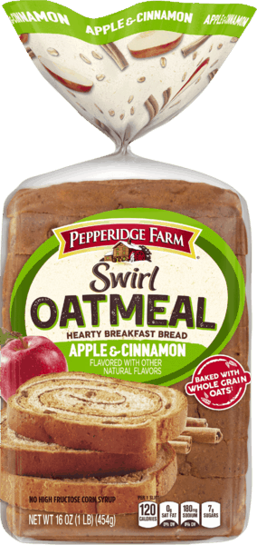 $1.00 for Pepperidge Farm Swirl Oatmeal Bread (expiring on Wednesday, 05/02/2018). Offer available at multiple stores.