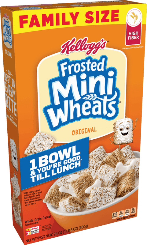 $0.50 for Kellogg's Frosted Mini-Wheats Cereal (expiring on Saturday, 11/14/2020). Offer available at Walmart, Walmart Pickup & Delivery.