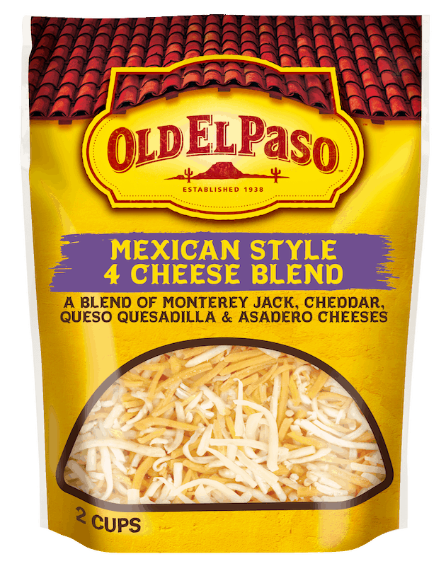 $0.50 for Old El Paso Shredded Cheese (expiring on Monday, 01/18/2021). Offer available at multiple stores.