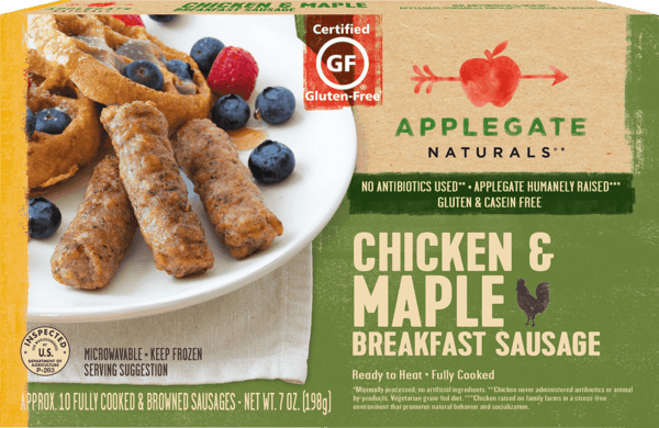 $0.25 for Applegate® Breakfast Sausage (expiring on Saturday, 06/02/2018). Offer available at multiple stores.