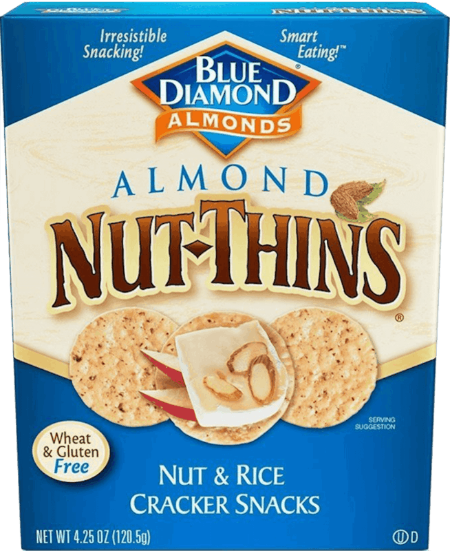 $0.50 for Blue Diamond® Nut-Thins®. Offer available at Walmart.