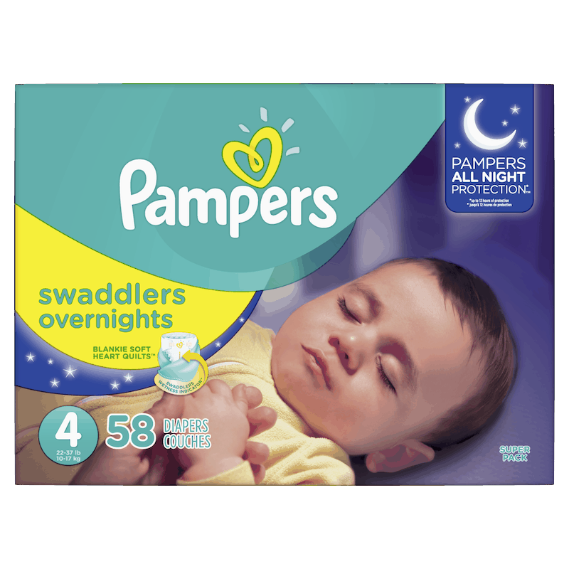 $3.00 for Pampers® Swaddlers Overnights Diapers. Offer available at multiple stores.