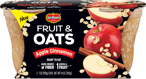 $0.50 for Del Monte® Fruit & Oats (expiring on Wednesday, 01/02/2019). Offer available at Walmart.
