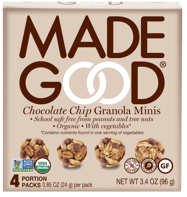 $1.00 for MadeGood Granola Minis (expiring on Sunday, 11/01/2020). Offer available at multiple stores.
