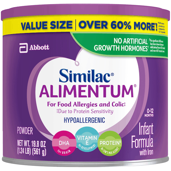 $5.00 for Similac® Alimentum® Infant Formula. Offer available at multiple stores.