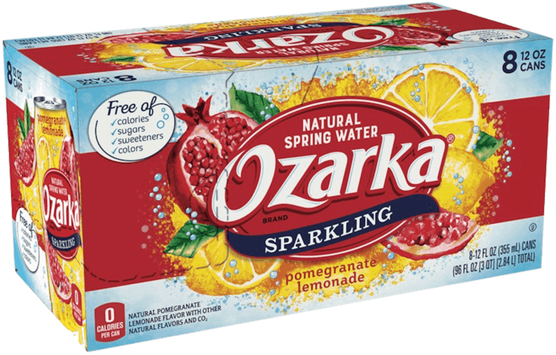 $1.00 for OZARKA® Brand Sparkling Natural Spring Water (expiring on Sunday, 02/02/2020). Offer available at Walmart.