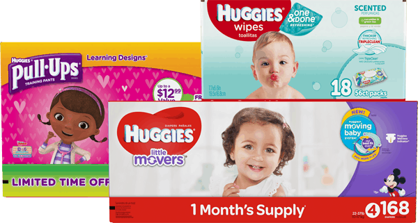 $5.00 for HUGGIES® (expiring on Sunday, 04/30/2017). Offer available at Sam's Club.