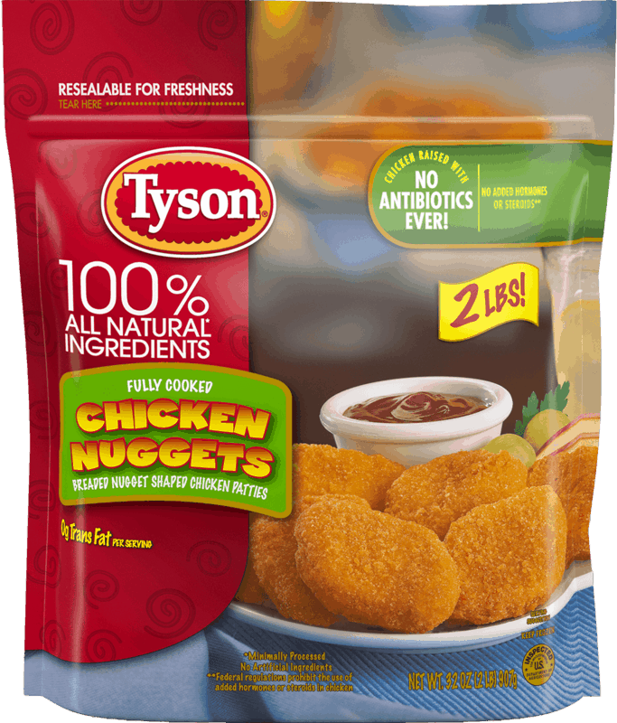 $0.25 for Tyson® Chicken Nuggets (expiring on Friday, 08/27/2021). Offer available at Walmart, Walmart Pickup & Delivery.