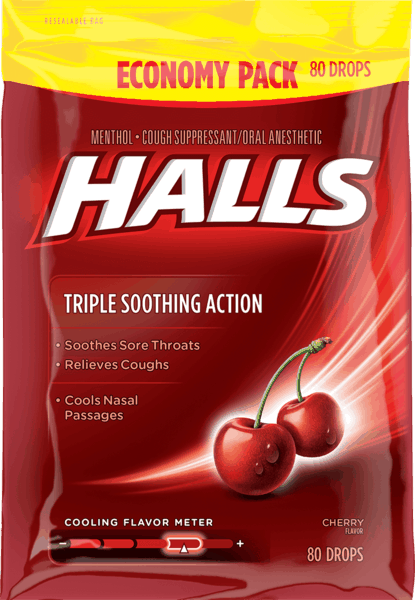 $0.50 for HALLS Drops (expiring on Wednesday, 05/02/2018). Offer available at Walmart.