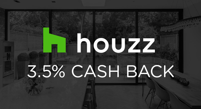 $0.00 for Houzz (expiring on Monday, 03/31/2025). Offer available at Houzz.