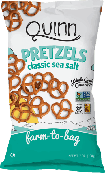 $0.75 for Quinn Whole Grain Pretzels (expiring on Tuesday, 10/02/2018). Offer available at multiple stores.