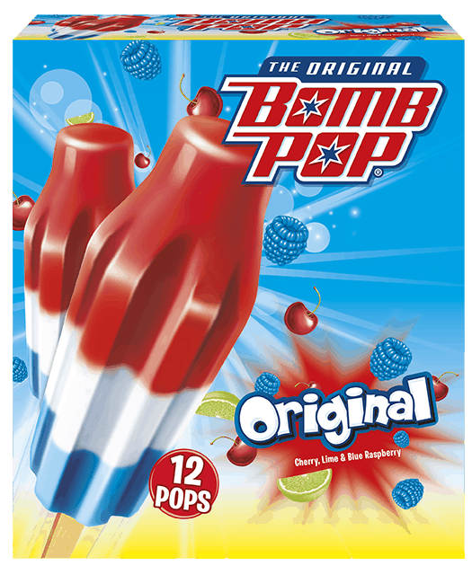 $0.75 for Bomb Pop Water Ice (expiring on Sunday, 07/05/2020). Offer available at multiple stores.