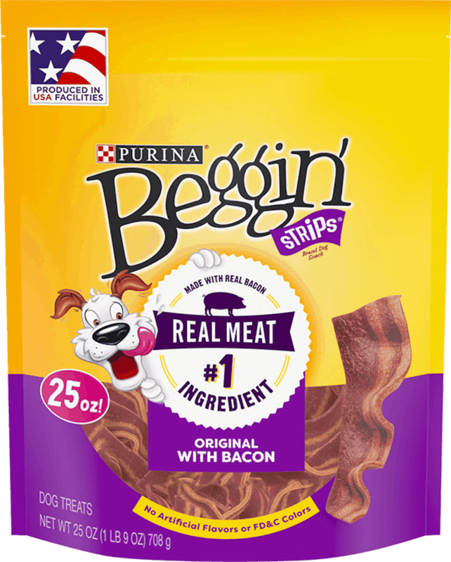 $1.00 for Purina® Beggin' Strips® Dog Treats (expiring on Monday, 12/02/2019). Offer available at multiple stores.