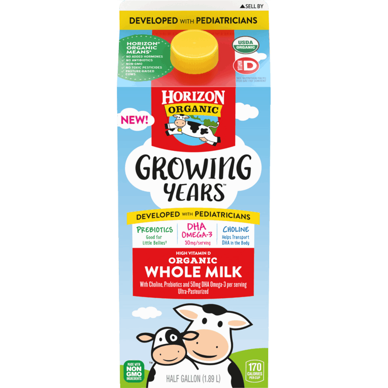 $1.25 for Horizon Organic Growing Years Milk (expiring on Sunday, 08/02/2020). Offer available at multiple stores.