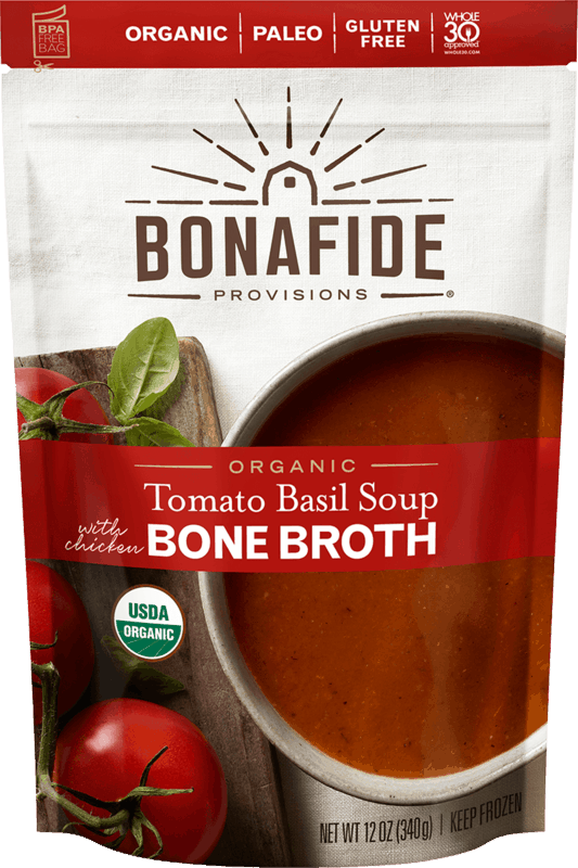 $1.50 for Bonafide Provisions Organic Soup with Bone Broth (expiring on Saturday, 07/04/2020). Offer available at multiple stores.