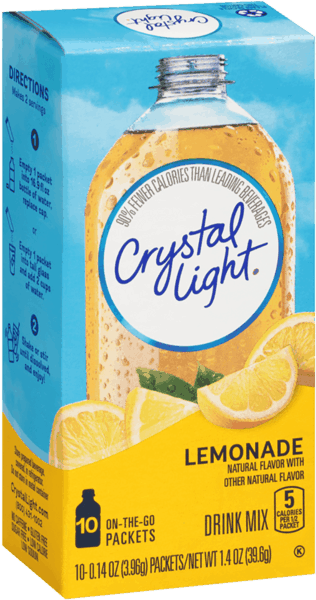 $0.75 for Crystal Light On The Go Drink Mix. Offer available at multiple stores.